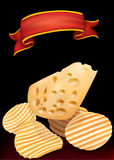 Potato chips and chees Royalty Free Stock Image