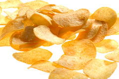 Potato chips close up Royalty Free Stock Photography