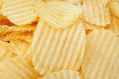 Potato chips close up Royalty Free Stock Image