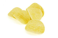 Potato Chips. Close-up of potato chips Royalty Free Stock Images