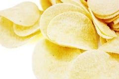 Potato Chips. Close-up of potato chips Stock Photos