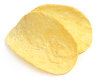 Potato chips closeup Stock Photos