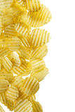 Potato Chips. Delicious potato chips with spice Royalty Free Stock Images