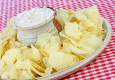 Potato Chips and Dip Stock Images
