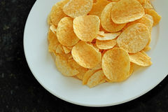 Potato chips in the dish Royalty Free Stock Photo
