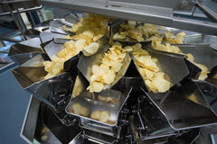 Potato chips factory Royalty Free Stock Image