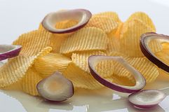 Potato chips. Food.background Royalty Free Stock Photo