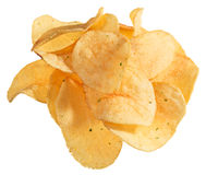 Potato chips heap isolated Royalty Free Stock Photography