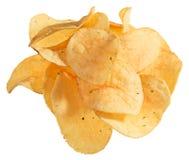 Potato chips heap isolated Royalty Free Stock Photography