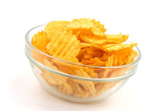 Potato Chips In A Bowl Royalty Free Stock Photo