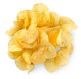Potato chips isolated Royalty Free Stock Photography