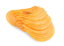 Potato chips. On isolated background Royalty Free Stock Image