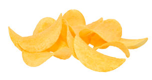 Potato chips. On isolated background Stock Image