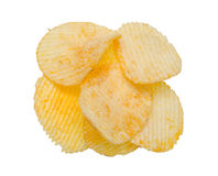 Potato chips. Isolated over white background Stock Image