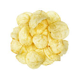 Potato chips isolated Stock Photography