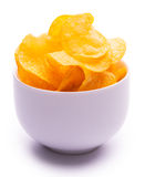 Potato chips isolated on the white Stock Image