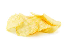 Potato chips. Isolated on white Stock Photo