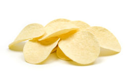 Potato chips isolated on white Royalty Free Stock Image