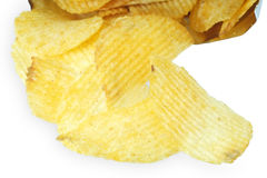 Potato chips isolated. Stock Photos