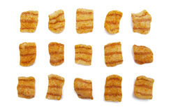 Potato chips. Isolated on the white background Stock Photos