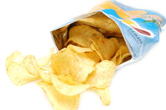 Potato chips in pack Royalty Free Stock Images