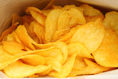 Potato chips in packing Stock Images