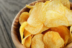 Potato chips with paprika Royalty Free Stock Images