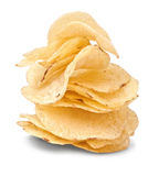 Potato chips pile Stock Photos