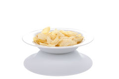 Potato chips on a plate Stock Photo