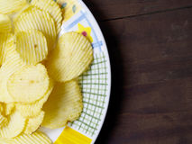Potato chips in a plate Stock Image