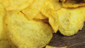 Potato Chips Rotating stock video footage