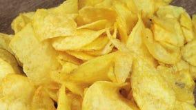 Potato Chips Rotating stock video