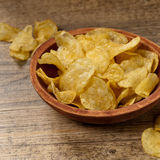 Potato chips. Selective focus. Royalty Free Stock Image