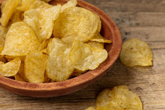 Potato chips. Selective focus. Royalty Free Stock Photo