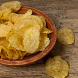 Potato chips. Selective focus. Stock Images