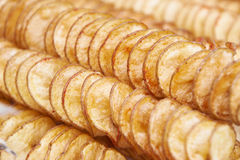 Potato chips on skewer Royalty Free Stock Image