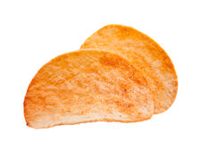 Potato chips snack. Prepared potato chips snack on white Royalty Free Stock Photo