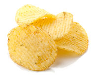 Potato chips with spice Royalty Free Stock Photography