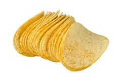 Potato chips with spices Royalty Free Stock Images