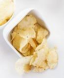 Potato chips split Royalty Free Stock Photography