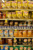 Potato chips in supermarket royalty free stock image