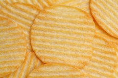 Potato chips texture Stock Images