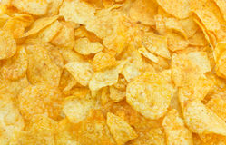 Potato chips texture. Royalty Free Stock Photography