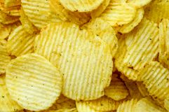 Potato chips. Are unhealthy snack but very delicious Stock Images