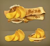 Potato chips vector icons Stock Photography