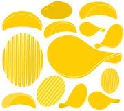 Potato Chips. Vector illustration (EPS 10 Stock Photography