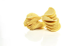 Potato chips. On white background Royalty Free Stock Image