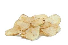 Potato chips. On white background stock image