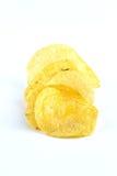 Potato chips on white Royalty Free Stock Photo
