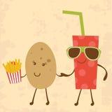 Potato and Coke Stock Image